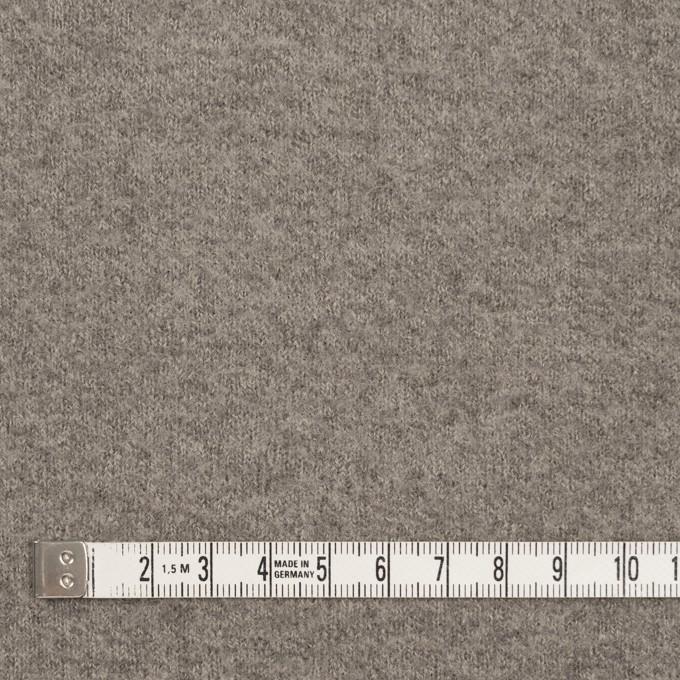 ウール&ポリアミド×無地(グレイッシュベージュ&アッシュグレー)×Wフェイス圧縮天竺ニット_イタリア製 イメージ4