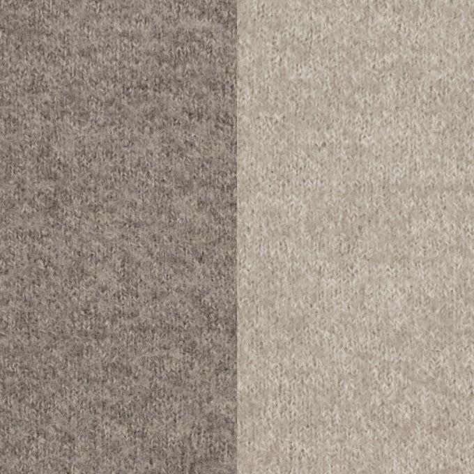 ウール&ポリアミド×無地(グレイッシュベージュ&アッシュグレー)×Wフェイス圧縮天竺ニット_イタリア製 イメージ1
