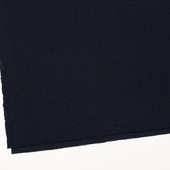 ウール&アクリル混×無地(ダークネイビー)×ファンシーニット イメージ2