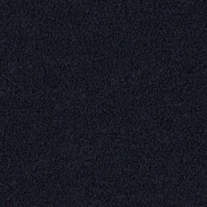 ウール&アクリル混×無地(ダークネイビー)×ファンシーニット イメージ1