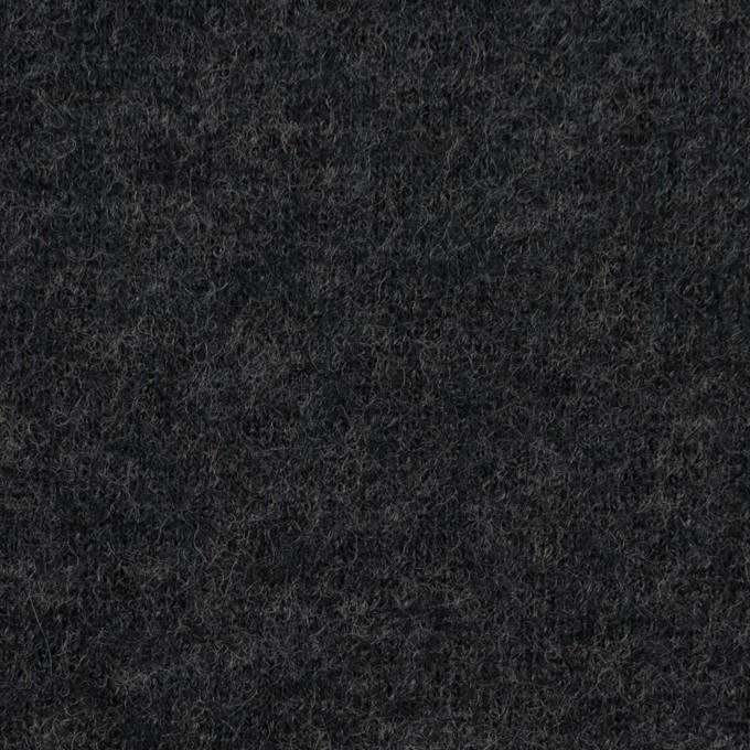 ウール×無地(チャコールグレー)×圧縮W天竺ニット イメージ1