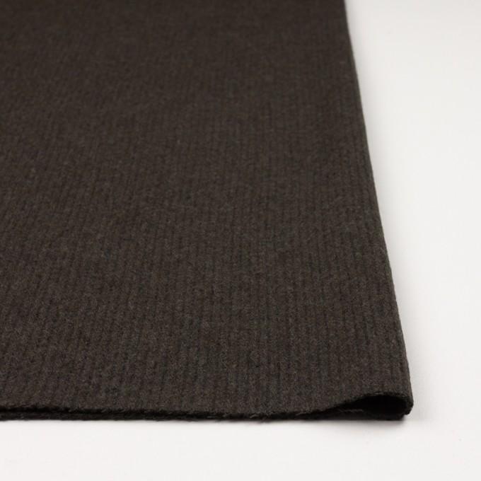 ウール×無地(ダークカーキ)×圧縮リブニット_全2色 イメージ3