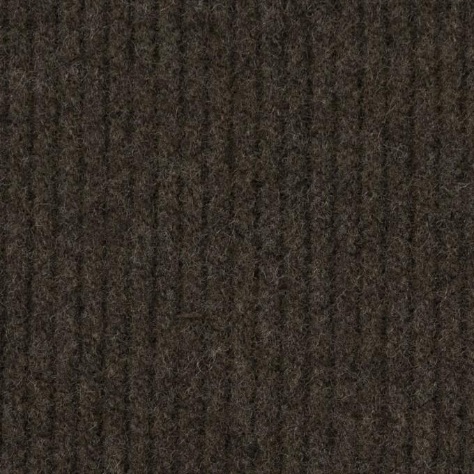 ウール×無地(ダークカーキ)×圧縮リブニット_全2色 イメージ1
