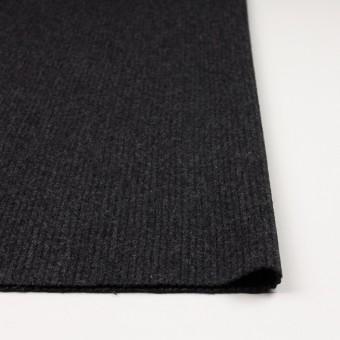 ウール×無地(チャコールグレー)×圧縮リブニット_全2色 サムネイル3