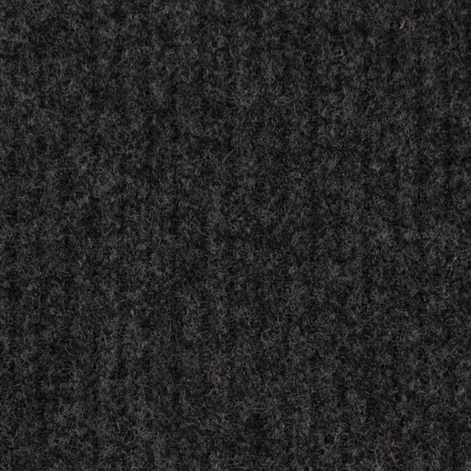ウール×無地(チャコールグレー)×圧縮リブニット_全2色 イメージ1