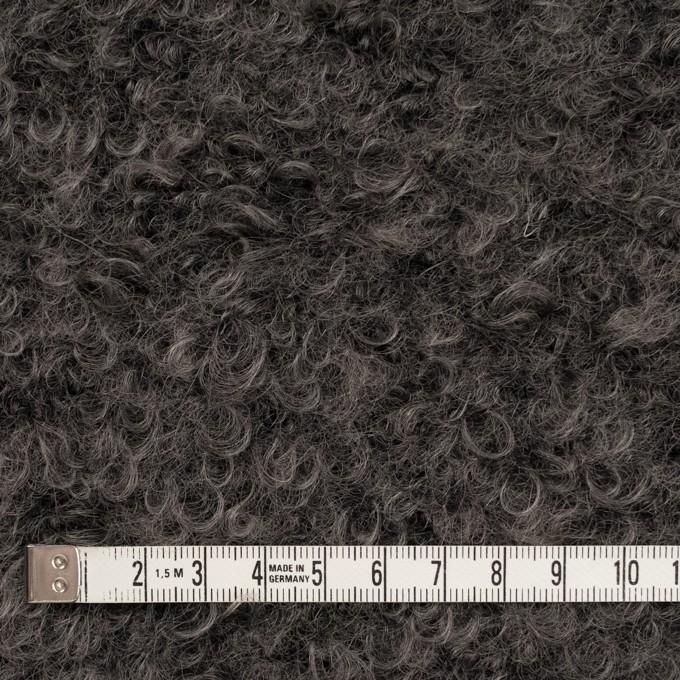 モヘア&ウール混×無地(アッシュグレー)×ループニット イメージ4