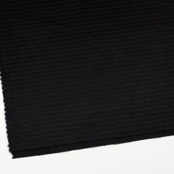 ウール&アクリル混×無地(ブラック)×シャギー サムネイル2
