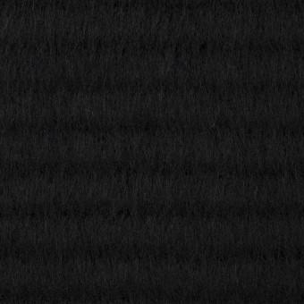 ウール&アクリル混×無地(ブラック)×シャギー サムネイル1
