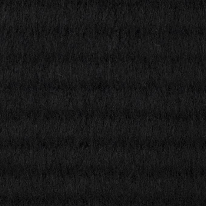 ウール&アクリル混×無地(ブラック)×シャギー イメージ1