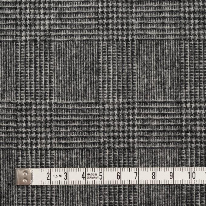 ウール&ナイロン×チェック(チャコールグレー)×かわり織 イメージ4