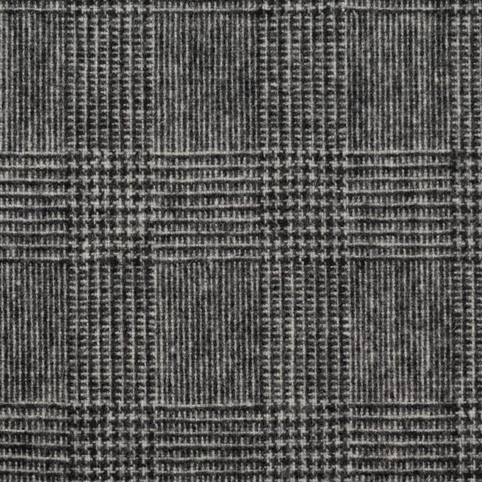 ウール&ナイロン×チェック(チャコールグレー)×かわり織 イメージ1