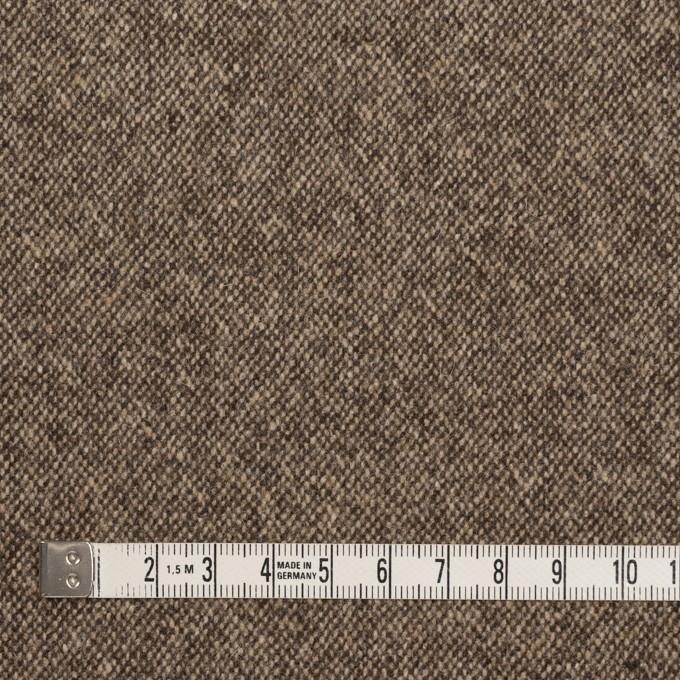 ウール&ポリエステル混×無地(キナリ&ブラウン)×ツイードストレッチ_全5色 イメージ4