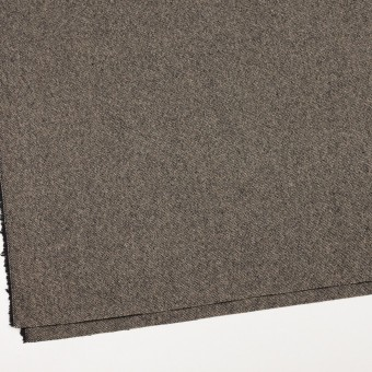 ウール&ポリエステル混×無地(キナリ&ブラック)×ツイードストレッチ_全5色 サムネイル2