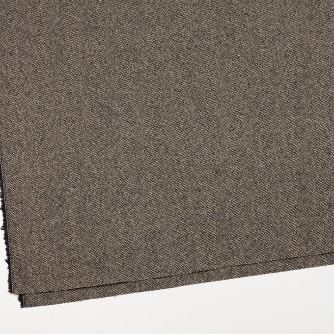 ウール&ポリエステル混×無地(キナリ&ブラック)×ツイードストレッチ_全5色 イメージ2