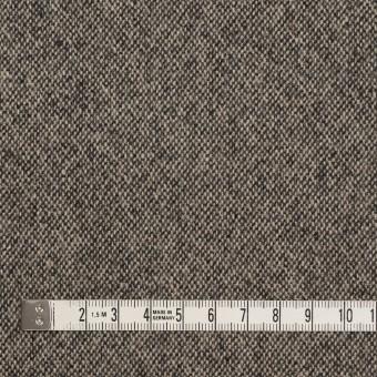 ウール&ポリエステル混×無地(キナリ&ブラック)×ツイードストレッチ_全5色 サムネイル4