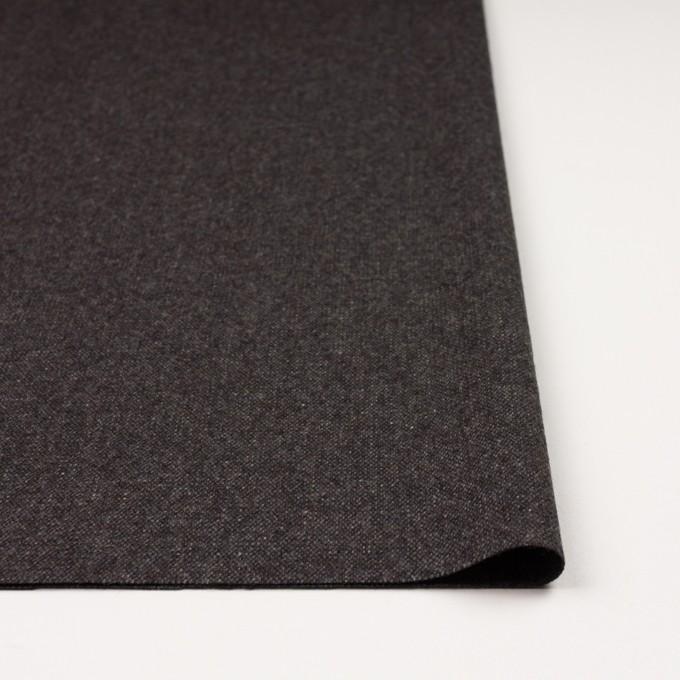 ウール&ポリエステル混×無地(チャコール&ブラウン)×ツイードストレッチ_全5色 イメージ3