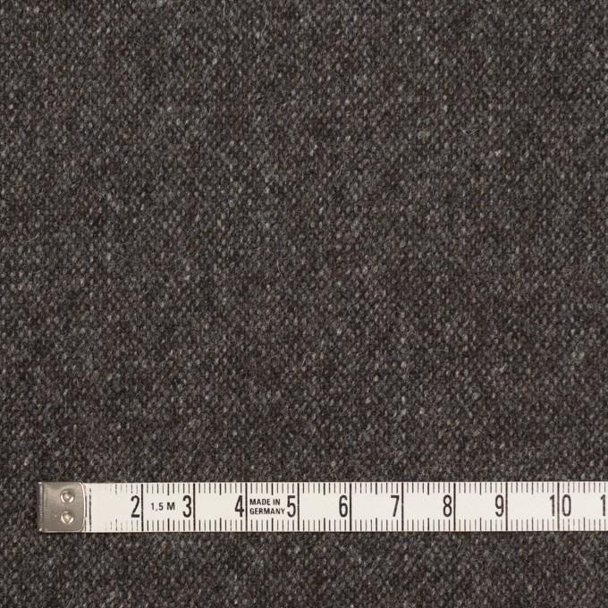 ウール&ポリエステル混×無地(チャコール&ブラウン)×ツイードストレッチ_全5色 イメージ4