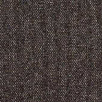 ウール&ポリエステル混×無地(チャコール&ブラウン)×ツイードストレッチ_全5色