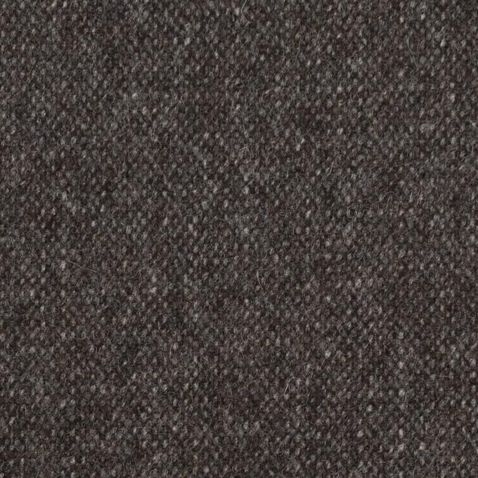 ウール&ポリエステル混×無地(チャコール&ブラウン)×ツイードストレッチ_全5色 イメージ1