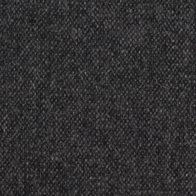 ウール&ポリエステル混×無地(チャコール&ブラック)×ツイードストレッチ_全5色 イメージ1