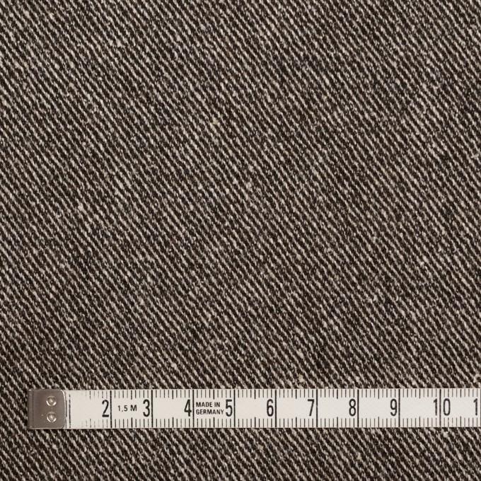ウール&レーヨン混×無地(ブラウン)×サージ_全2色 イメージ4