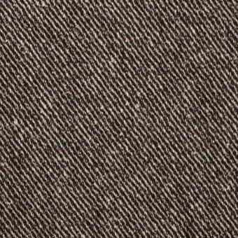 ウール&レーヨン混×無地(ブラウン)×サージ_全2色