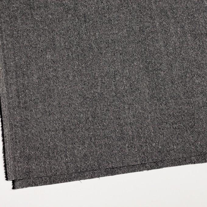 ウール&レーヨン混×無地(ブラック)×サージ_全2色 イメージ2