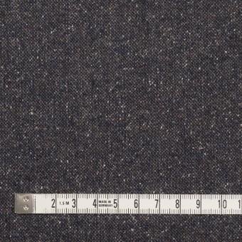 ウール&ポリエステル混×無地(アイアンネイビー)×ツイードストレッチ_全2色_イタリア製 サムネイル4