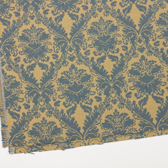 レーヨン&コットン混×幾何学模様(バナナ&ブルーグレー)×ジャガード_イングランド製 イメージ2