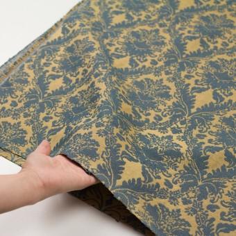 レーヨン&コットン混×幾何学模様(バナナ&ブルーグレー)×ジャガード_イングランド製 サムネイル5
