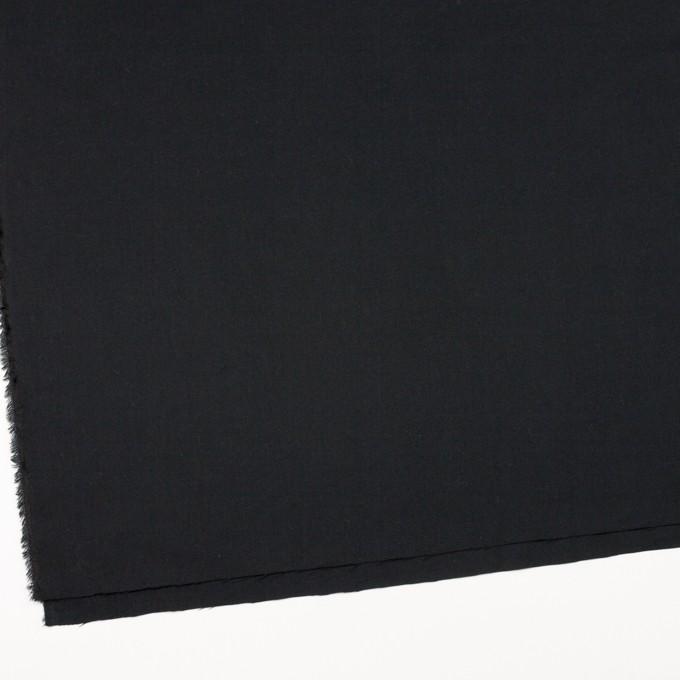 コットン&キュプラ混×無地(ブラック)×ビエラ イメージ2