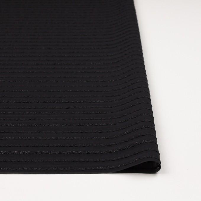 ポリエステル×ボーダー(ブラック)×ピンタックジョーゼット イメージ3