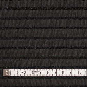 ポリエステル×ボーダー(ブラック)×ピンタックジョーゼット サムネイル4