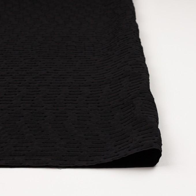 シルク&ナイロン×ボーダー(ブラック)×サテンジャガード イメージ3