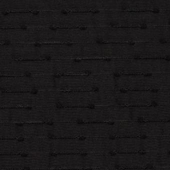 シルク&ナイロン×ボーダー(ブラック)×サテンジャガード