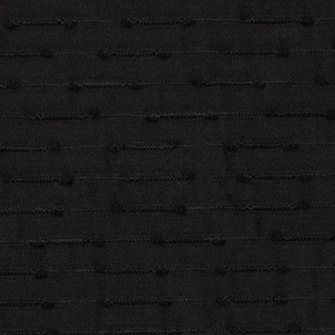 シルク&ナイロン×ボーダー(ブラック)×サテンジャガード イメージ1