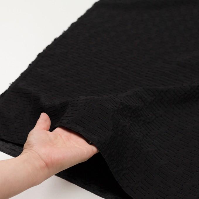 シルク&ナイロン×ボーダー(ブラック)×サテンジャガード イメージ5