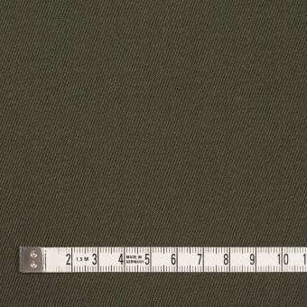 ウール×無地(カーキグリーン)×サージ_全2色 サムネイル4