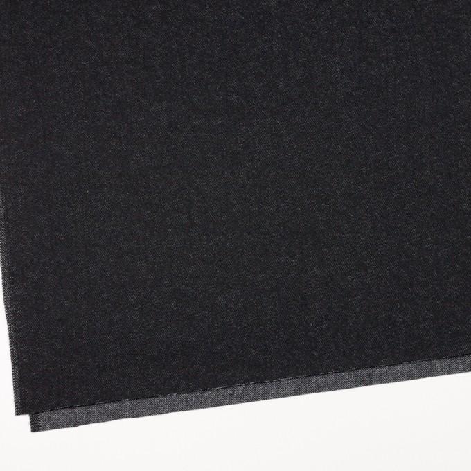 ウール&コットン×無地(ブラック)×厚ビエラ イメージ2