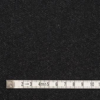 ウール&コットン×無地(ブラック)×厚ビエラ サムネイル4