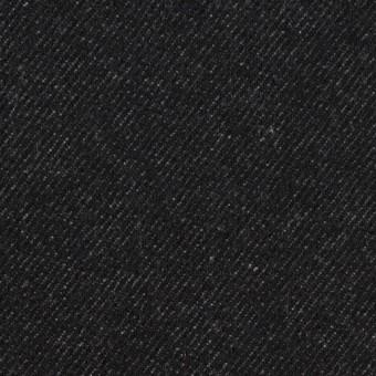 ウール&コットン×無地(ブラック)×厚ビエラ