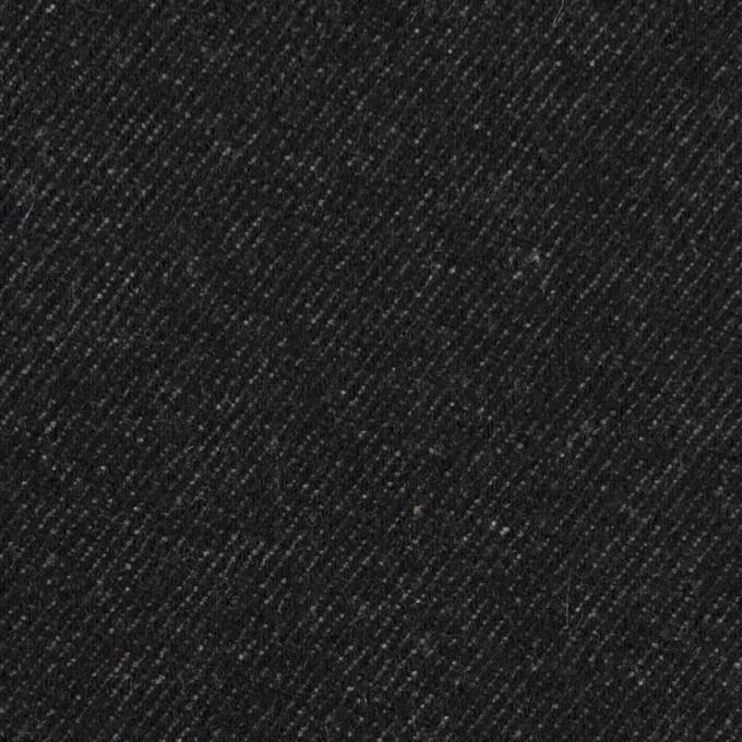 ウール&コットン×無地(ブラック)×厚ビエラ イメージ1