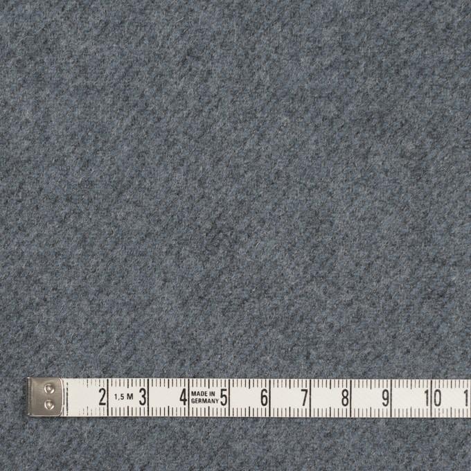 ウール&ナイロン×無地(ブルーグレー)×厚カルゼ イメージ4