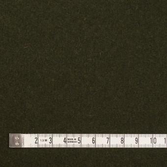 ウール&ナイロン×無地(オリーブドラブ)×メルトン サムネイル4