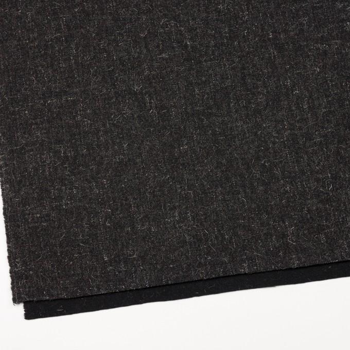 ウール×無地(チャコール)×二重織ツイード イメージ2