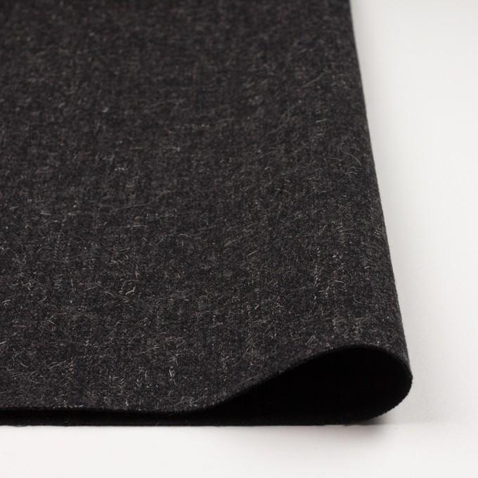 ウール×無地(チャコール)×二重織ツイード イメージ3