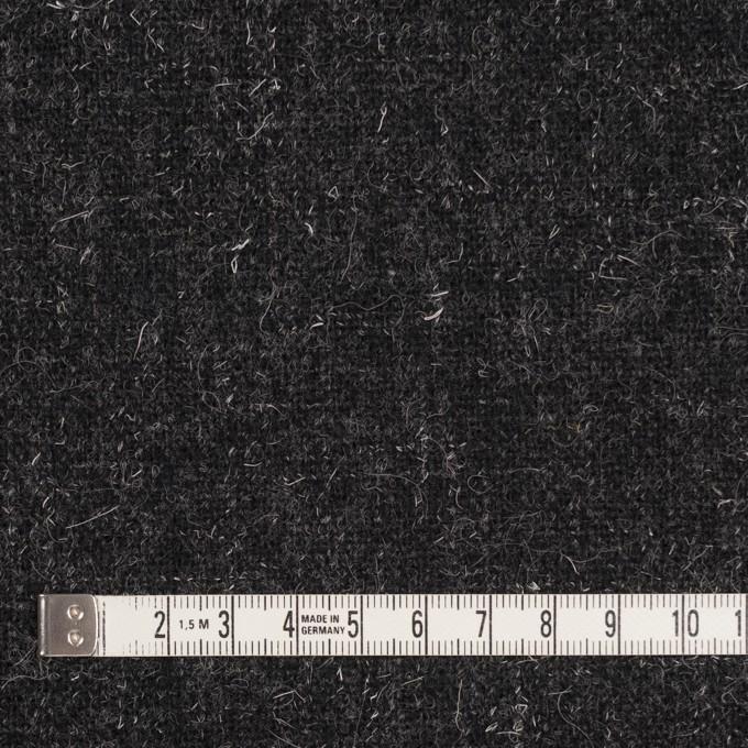 ウール×無地(チャコール)×二重織ツイード イメージ4