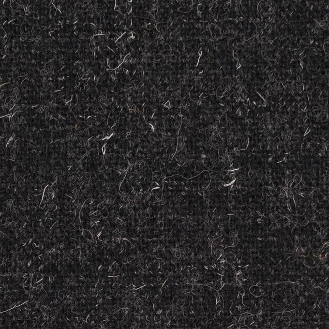 ウール×無地(チャコール)×二重織ツイード イメージ1