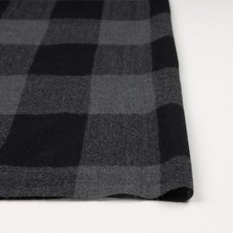 ウール×チェック(チャコールグレー&ブラック)×ガーゼ_全3色 サムネイル3