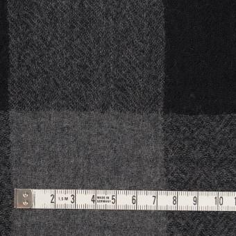 ウール×チェック(チャコールグレー&ブラック)×ガーゼ_全3色 サムネイル4